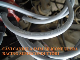 CAVI CANDELA 8MM SILICONE ULTRA RACING SUPERCONDUTTORI