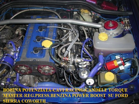 Superbobina -Candele TORQUE MASTER-REG.PRESS.BENZINA   SU FORD SIERRA COWORTH